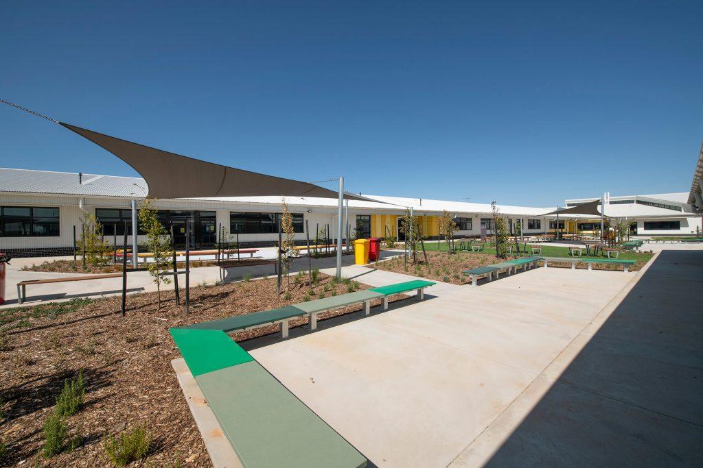 Empty school yard
