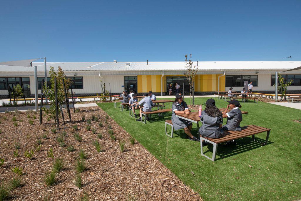 Students in school yard